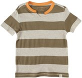 Burt's Bees Baby Rugby Cut Neck Tee (Toddler/Kid) - Olive Sprig-3T