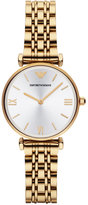 Emporio Armani Women's Gold Ion-Plated Stainless Steel Bracelet Watch 32mm AR1877