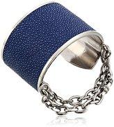 "Paige Novick Natalia Collection"" Silver-Tone Stingray Cuff Bracelet"