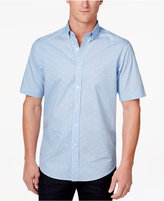 Club Room Men's Micro-Geometric Cotton Shirt, Only at Macy's