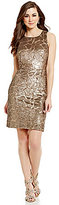 Antonio Melani Maura Sequin Mesh Sleeveless Sheath Dress