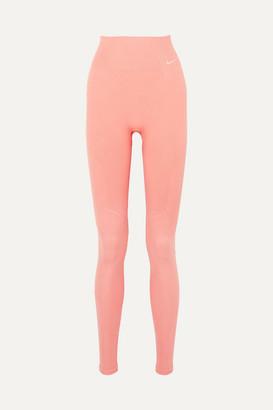Nike Power Perforated Ribbed Dri-fit Leggings - Pink