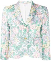 Thom Browne Sunny Multi Floral Print Unconstructed Sport Coat