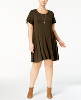 Style&Co. Style & Co Plus Size Ruffled-Sleeve Dress, Created for Macy's