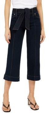 INC International Concepts Inc Tie-Waist Culotte Jeans, Created for Macy's