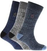 Luke 1977 Three Pack Fenton Socks Blue