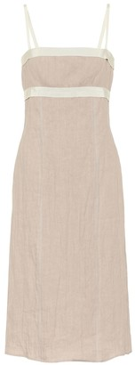Brock Collection Quintetto linen-blend midi dress