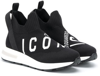 DSQUARED2 Icon slip-on sock trainers
