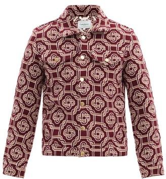 Casablanca Monogram-jacquard Jacket - Burgundy