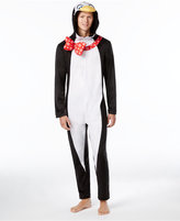 Briefly Stated Men's Penguin Hooded One-Piece Pajamas