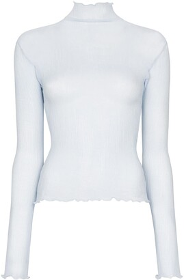 J.W.Anderson Transparent Frill Hem Top
