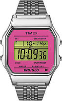 Timex Retro Women's Digital Watch | Pink Case & Pink Bezel | TW2P65000