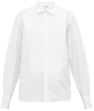 Bottega Veneta Ribbed-bib Cotton-poplin Shirt - Womens - White