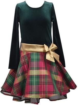 Bonnie Jean Girls 7-16 Velvet Hipster with Swing Skirt
