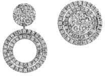 Effy Diamond & 14K White Gold Asymmetric Earrings
