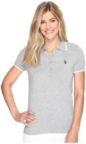 U.S. Polo Assn. Short Sleeve Solid Polo Sweater