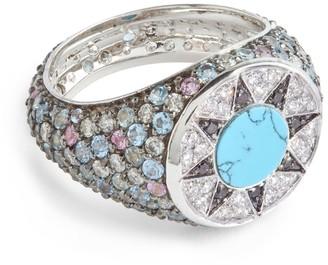 L'ATELIER NAWBAR Diamond and Sapphire Cosmic Love Ibiza Element Ring