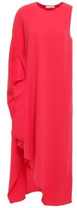 Narciso Rodriguez One-shoulder Draped Crepe Midi Dress