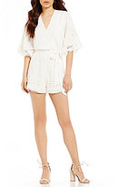Lovers + Friends Brixton Embroidered Lace Romper