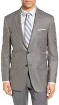 Hart Schaffner Marx Men's Classic Fit Check Silk & Wool Sport Coat