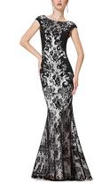 Black Lace Mermaid Gown