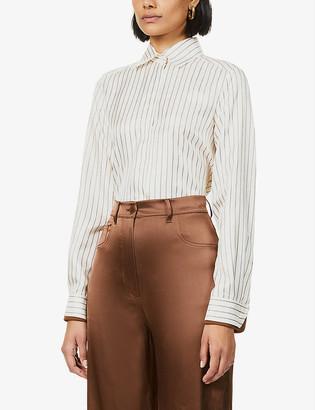 Max Mara Pio stripe silk-satin shirt