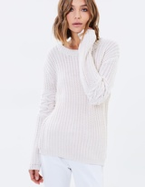 Sass Carmel Cable Sleeve Jumper