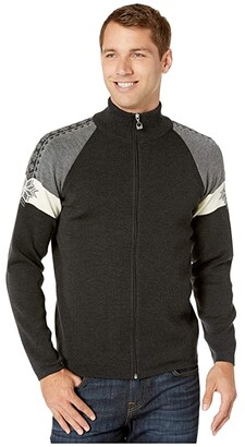 Dale of Norway Geilo Masculine Jacket (Dark Charcoal/Off-White/Smoke) Men's Clothing