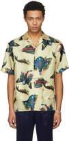 Gucci Beige Silk Printed Bowling Shirt
