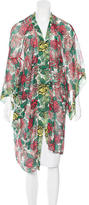 Anna Sui Sheer Floral Print Kimono
