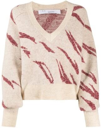 IRO patterned V-neck jumper