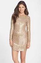 Dress the Population Women's Lola Sequin Body-Con Dress