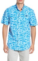 Vineyard Vines Men's Harbor Brushed Marlin Fishing Shirt