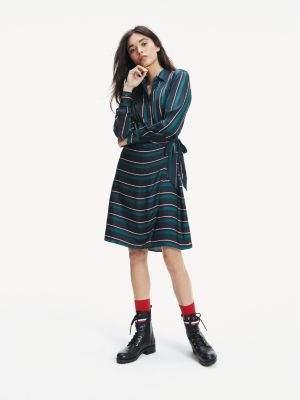 Tommy Hilfiger Long Sleeve Stripe Dress