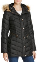 Andrew Marc Renee Faux Fur Trim Down Coat