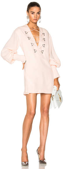 Dion Lee Military Blouson Mini Dress
