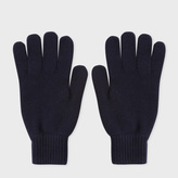Paul Smith Men's Navy Cashmere Gloves