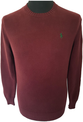 Polo Ralph Lauren Burgundy Cotton Knitwear & Sweatshirts