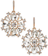 Charter Club Rose Gold-Tone Crystal Drop Earrings, Only at Macy's