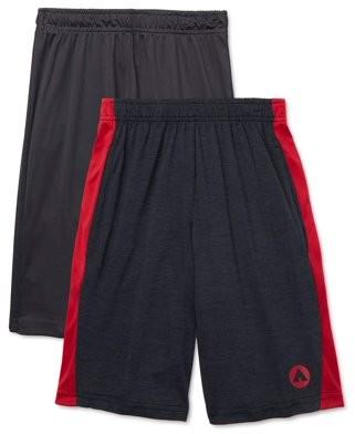 Airwalk Boys Performance Active Shorts, 2-Pack, Sizes 4-14
