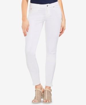 Vince Camuto Frayed-Hem Skinny Jeans