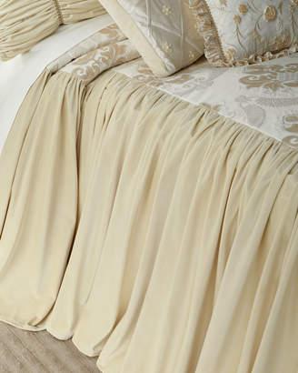 Dian Austin Couture Home Deluxe Damask King Coverlet with Velvet Skirt