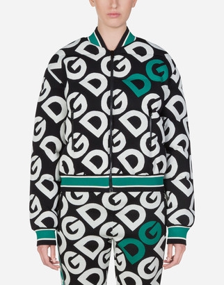 Dolce & Gabbana Bomber Jacket With Logo Print