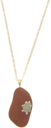 Cvc Stones Feel Diamond & 18kt Gold Pebble-charm Necklace - Womens - Gold