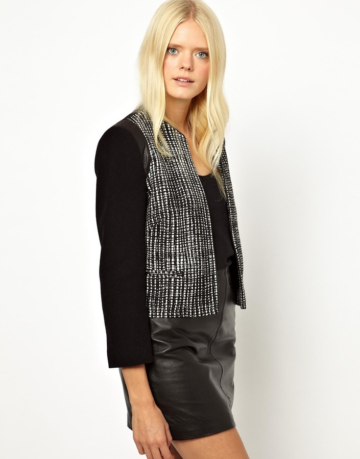 Helene Berman Mix & Match Jacket with Contrast Front Panels