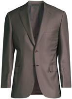 Brioni Virgin Wool & Silk Check Jacket