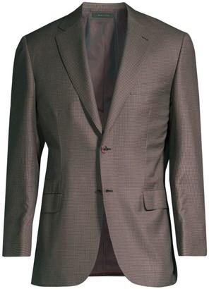 Brioni Virgin Wool & Silk Check Jacket
