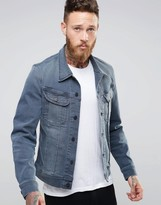 Lee Rider Slim Denim Jacket Chisel Gray
