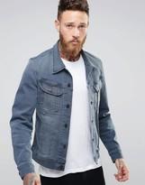 Lee Rider Slim Denim Jacket Chisel Grey