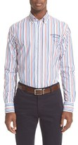 Paul & Shark Men's Regular Fit Logo Stripe Sport Shirt